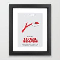 Lethal Weapon Framed Art Print