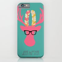 iPhone & iPod Case featuring Deer Hipster by Vanya B Designs