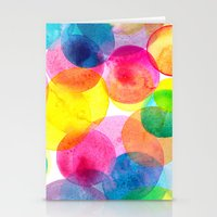 Confetti paint TWO Stationery Cards