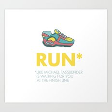 Funny quotes Art Print