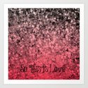 SO THIS IS LOVE Romantic Ombre Valentines Abstract Acrylic Painting Typography Art Red Pink Black Art Print