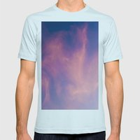 Boreal Purple Mens Fitted Tee Light Blue SMALL