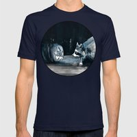 Staring Contest Mens Fitted Tee Navy SMALL