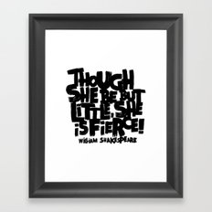 LITTLE FIERCE Framed Art Print