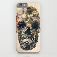 iPhone Cases featuring Skull Town by Ali GULEC