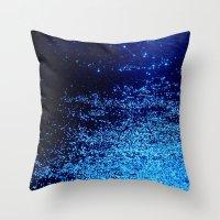 blue odisseia Throw Pillow