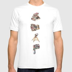Snap! SMALL White Mens Fitted Tee