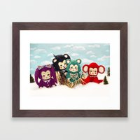 Bitsy toy Christmas Framed Art Print