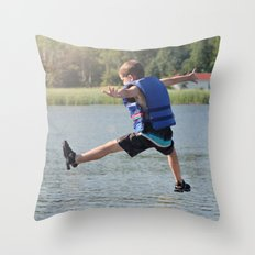 Harry Leaps! Throw Pillow