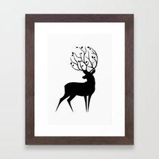 Deer moon Framed Art Print