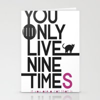 YOLNT. YOU ONLY LIVE NIN… Stationery Cards