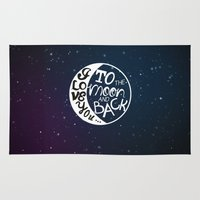 I LOVE YOU To The MOON A… Rug