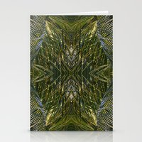 Coconut Leaf Collage 2 Stationery Cards