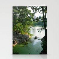 New York Central Park Lake Stationery Cards