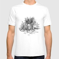 Creatures of nature Mens Fitted Tee White SMALL