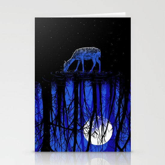 deep blue forest Stationery Card