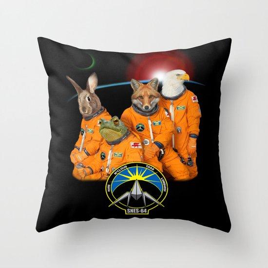 STARFOX - The Lylat Space Program Throw Pillow