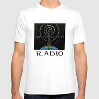 Radio Mens Fitted Tee White SMALL