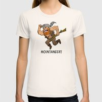 Mountaineer!  Womens Fitted Tee Natural SMALL