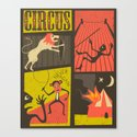 Trouble at the Circus Canvas Print
