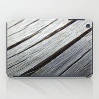 Rustic wooden floor (grey colors) iPad Case
