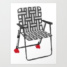 rocket launcher (rocket lawnchair). Art Print