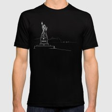 New York by Friztin SMALL Mens Fitted Tee Black