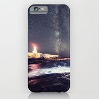 iPhone & iPod Case featuring Lighthouse in the Summer Sky by Shaun Lowe
