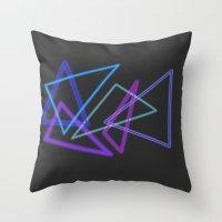 Glow Stick  Throw Pillow