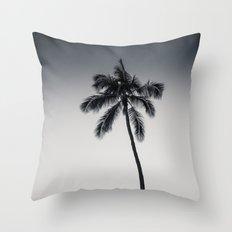 palm tree ver.black Throw Pillow
