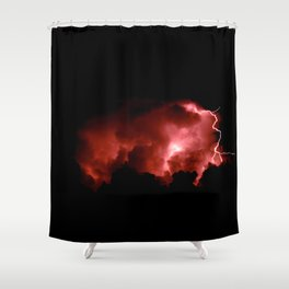 Shower Curtain - Lightning Strikes - Alaskan Momma Bear