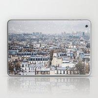 Snowy Paris Laptop & iPad Skin