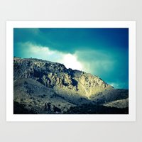 Through the Hills Art Print