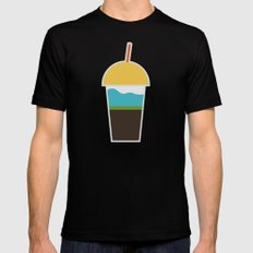 Morning coffee Mens Fitted Tee Black SMALL