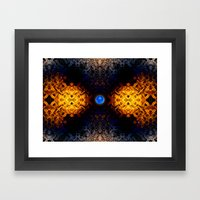 Earth And Fire Framed Art Print