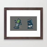 Running Out Of Battery Framed Art Print