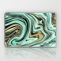 MARBELLOUS IN MINT AND G… Laptop & iPad Skin