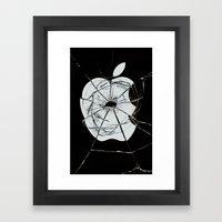 Broken sin Framed Art Print