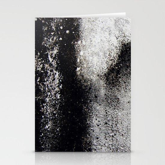 Negro sobre Blanco Stationery Card