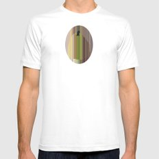 Pear SMALL White Mens Fitted Tee