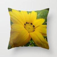 Yellow Feeling Throw Pillow