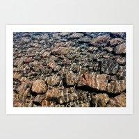 rocks in water Art Print