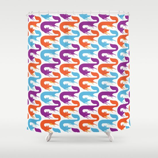 Chasing tails Shower Curtain