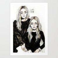 mary kate  and ashley Art Print