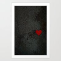 I Heart Balloons Art Print