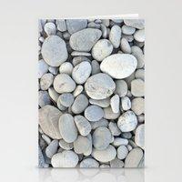 round stones Stationery Cards