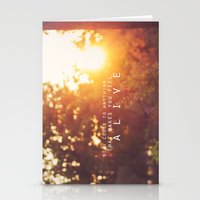 feel alive. Stationery Cards
