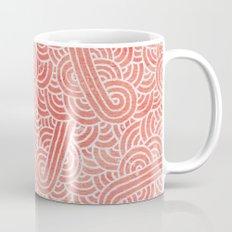 Peach echo and white swirls doodles Mug