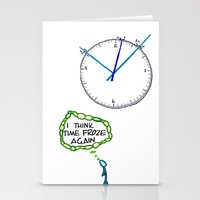 Shattered Frozen Time Stationery Cards