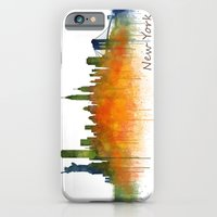 iPhone Cases featuring New York City Skyline Hq V02 by hqphoto